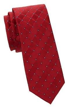 Black & Brown Black Brown Walter Skinny Silk-Blend Neat-Dot Tie
