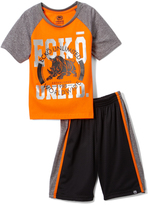 Ecko Unlimited Orange & Gray Tee & Shorts - Toddler & Boys