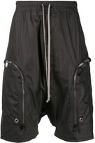 Rick Owens matte drop-crotch shorts