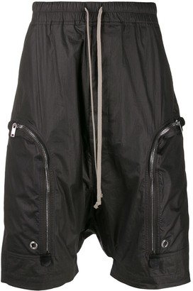 Rick Owens Matte Drop-Crotch Shorts