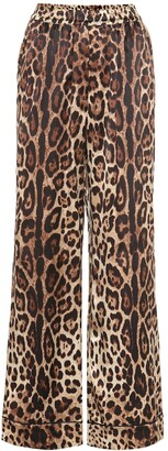 Dolce & Gabbana Leopard-print stretch-silk pants