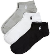 Polo Ralph Lauren Arch Support Ankle Socks, Set of 3