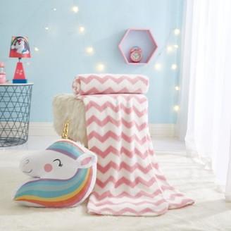 Heritage Club 2 Piece Pillow and Throw Set for Kids, Unicorn Rainbow
