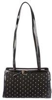 Judith Leiber Patent Leather-Trimmed Shoulder Bag