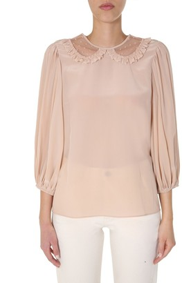 RED Valentino Peter Pan Collared Blouse