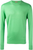 Cruciani ribbed trim jumper