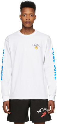 Noah NYC White Pure Juice Long Sleeve T-Shirt