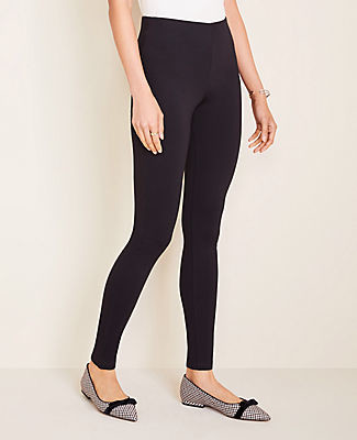 Ann Taylor Tall Seamed Ponte Side Zip Leggings