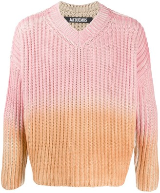 Jacquemus Gradient Chunky Knit Jumper