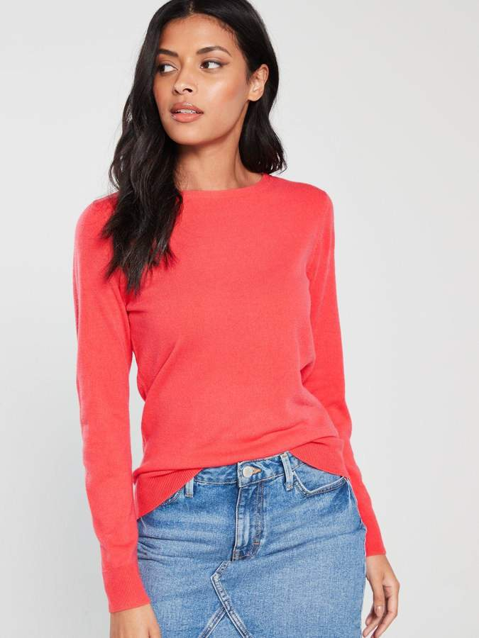 Very Supersoft Crew Neck Jumper - Coral Pink