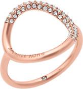 Michael Kors Brilliance rose gold-toned pavé ring