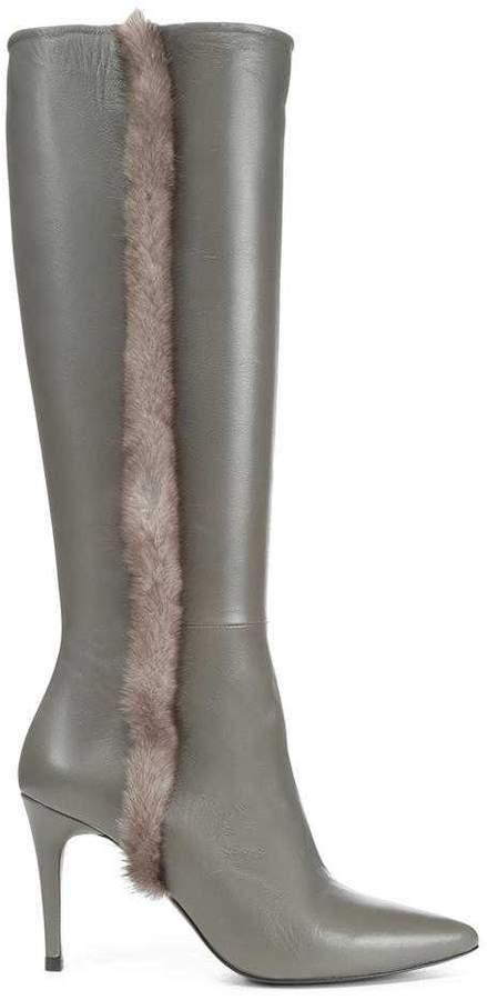 Donald J Pliner RAFELA, Nappa Leather and Mink Fur Boot