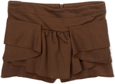 E-Land Kids Brown Tier Skort - Toddler & Girls