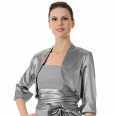 Luxury Divas 3/4 Sleeve Satin Style Bolero Shrug Jacket
