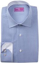 Lorenzo Uomo Mini Gingham Trim Fit Dress Shirt