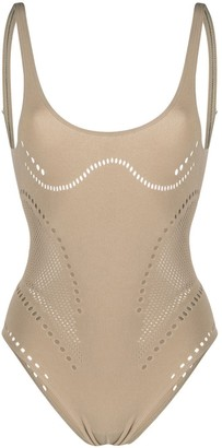 Stella McCartney Stellawear perforated bodysuit