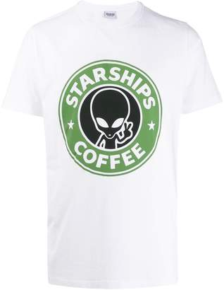 SSS World Corp Starships Coffee print T-shirt