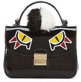 Furla Candy Jungle Sugar Mini Cross-Body Bag with Dyed Raccoon Fur Pom