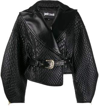 Just Cavalli quilted faux leather jacket
