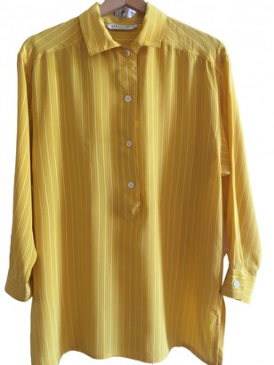 Christian Dior Yellow Silk Top for Women Vintage