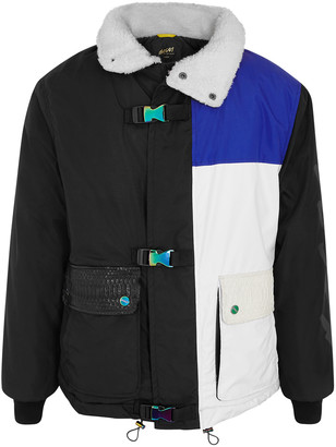 Bossi Sportswear Colour-blocked padded nylon jacket