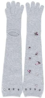 Dorothee Schumacher Modern Opulence logn knitted gloves