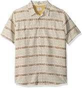 Quiksilver Men's Wake Koro Miri Button Down Shirt with Back Vent