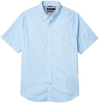 Nautica Woven Navtech Solid (Blue) Men's Clothing