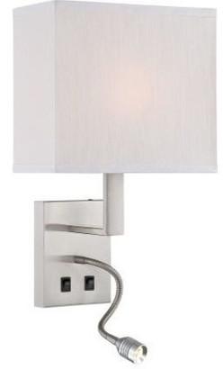 Proenza Schouler Wall Lamp W Reading Lamp, Fabric Shd, E27 A 60W and LED 1W