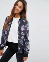 JDY Floral Bomber Jacket