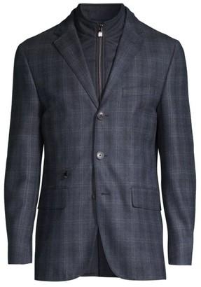 Corneliani Plaid Virgin Wool ID Jacket