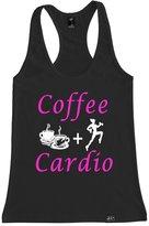 FTD Apparel Women's Coffee and Cardio Racerback Tank Top