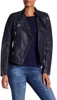 Andrew Marc Ryan Asymmetrical Moto Leather Jacket