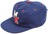 MAISON KITSUNÉ MK-logo embroidered cotton cap