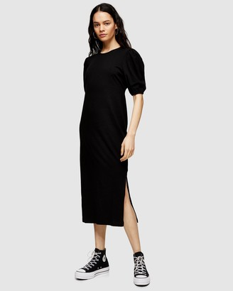 Topshop Ruched Back T-Shirt Dress