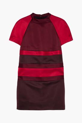 Valentino Color-block Duchesse Silk-satin Mini Dress