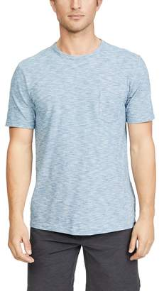 Faherty Short Sleeve Indigo Pocket Tee