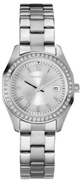 Caravelle Designed by Bulova Women's Stainless Steel Bracelet Watch 28mm