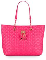 Betsey Johnson Be My Baby Quilted Heart Tote