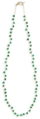 Ten Thousand Things 18K Yellow Gold & Emerald Spiral Beaded All Around Choker Necklace