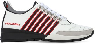 DSQUARED2 251 Leather Stripes Low-Top Sneakers