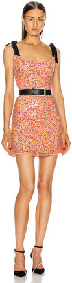 MARKARIAN for FWRD Mars Iridescent Sequin Mini Dress in Coral | FWRD