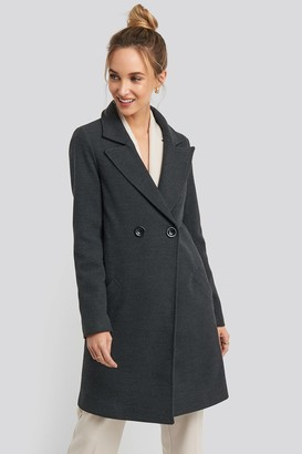 Trendyol Long Double Breasted Coat Grey