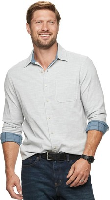 Sonoma Goods For Life Men's Double-Weave Button-Down Shirt