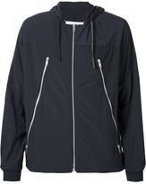 Maison Margiela zip detail hooded jacket - men - Cotton/Calf Leather/Polyamide/Polyester - 50