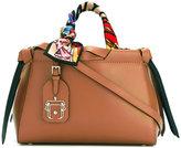Paula Cademartori scarf handled tote bag - women - Leather - One Size