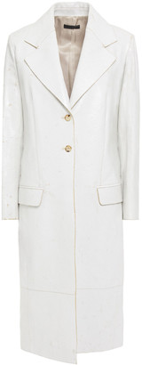 The Row Rami Cracked Patent-leather Coat