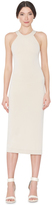 Alice + Olivia Lumi Fitted Midlength Crossback Halter Dress