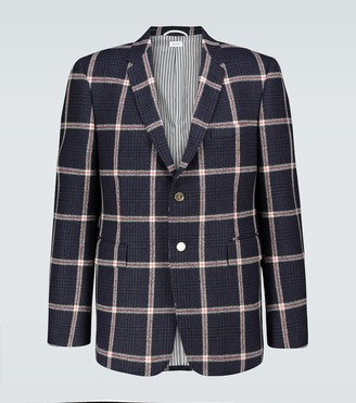 Thom Browne Prince of Wales checked wool blazer