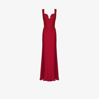 Alexander McQueen Sweetheart Neckline Evening Gown